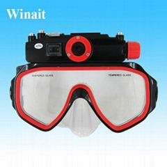 Winait's Diving mask DVR waterproof 30 meters digital camera with 5MP CMOS, LED