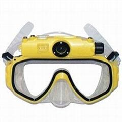 英耐特潛水面罩DVR30米防水數碼相機與500萬像素的CMOS,LED