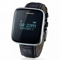 Wireless bluetooth watch with Answer calls/SMS/Music/Number display 1