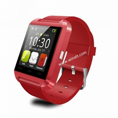 smart phone watch bluetooth 3.0 with altimeter  and pedometer answer call watch