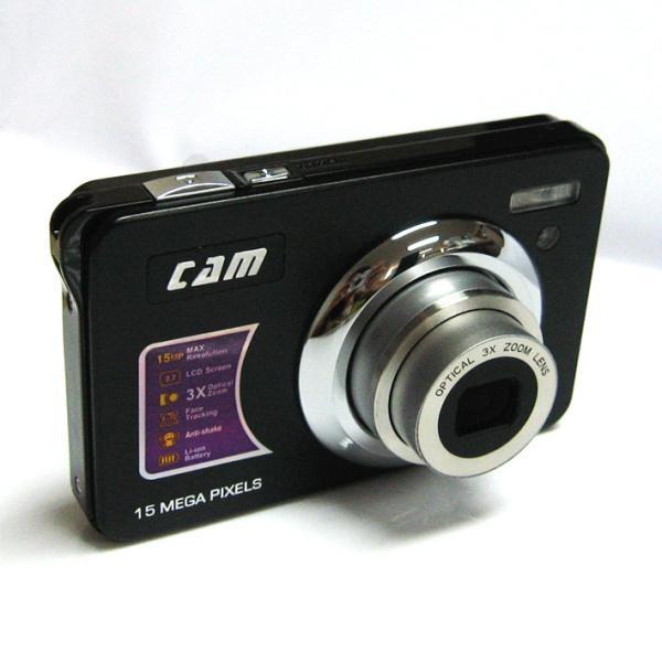 15mp digital camera with 2.7'' TFTdisplay 4x digital zoom 3 x optical zoom  2