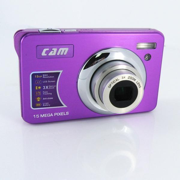 15mp digital camera with 2.7'' TFTdisplay 4x digital zoom 3 x optical zoom  4