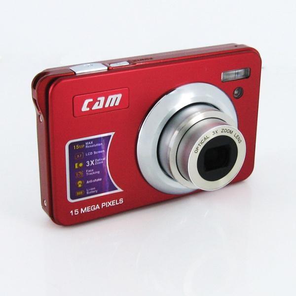 15mp digital camera with 2.7'' TFTdisplay 4x digital zoom 3 x optical zoom  5