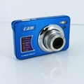 15mp digital camera with 2.7'' TFTdisplay 4x digital zoom 3 x optical zoom  6