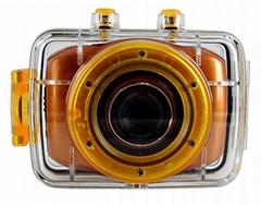 HD720P sports digital video camera 2.0''toudh display 3.1 mp cmos sensor