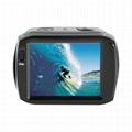 HD1080P运动防水数码摄像机2.4'触摸屏 2
