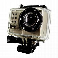 Full hd 1080p 12MP waterproof action digital video camera 30 meters underwater