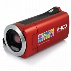 HD720P数码摄像机与2.7英寸TFT显示器  16像素的4倍数码变焦
