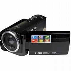 16MP的数码摄像机HD720P摄像机2.7英寸TFT显示