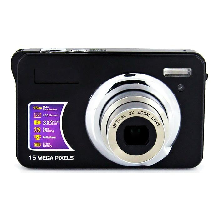 15mp digital camera with 2.7'' TFTdisplay 4x digital zoom 3 x optical zoom  1