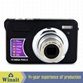 15mp digital camera with 2.7'' TFTdisplay 4x digital zoom 3 x optical zoom