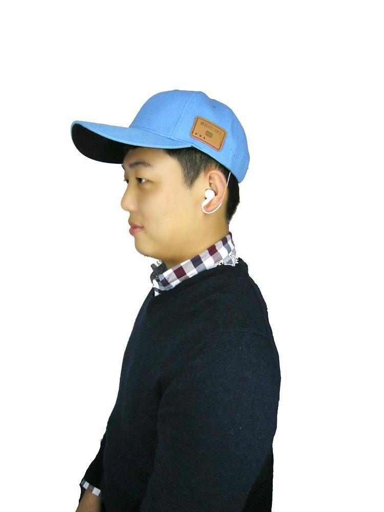 蓝牙太阳防嗮帽子可支持无线通话音乐播放 2