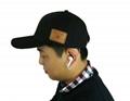 蓝牙太阳防嗮帽子可支持无线通话音乐播放 5