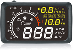 x3 car head up display with color display 5.5 inch display