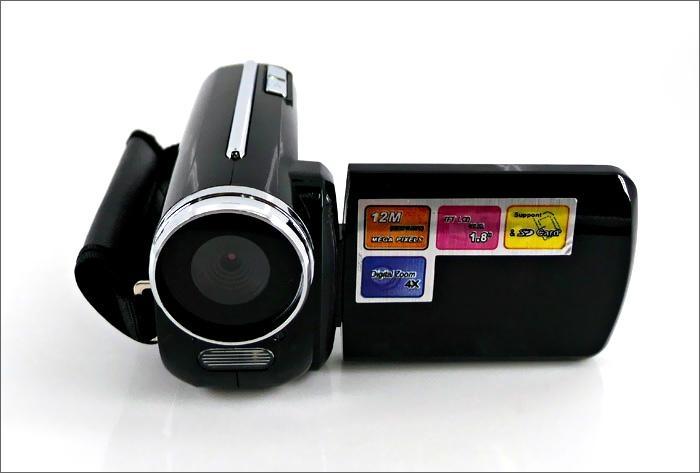 max 12mp digital video camera with 1.8'' TFT display, HD 4x digital zoom video 1