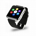 ZY06 GSM smart watch phone with touch display and camera, work with iphone 2