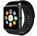 GT08 smart watch phone, sim card and memory card, support android and iphone