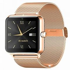 Z50 GSM smart phone watch with metal strap wrist band man watch