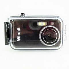2mp diposable waterproof digital camera with waterproof case