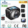 360度 VR 运动摄像机,遥控器控制360相机 2