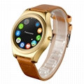 Q2 round panel smart watch phone with touch display