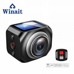 360度 VR 运动摄像机,遥控器控制360相机