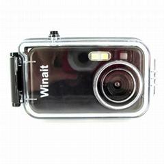 2mp diposable waterproof digital camera with waterproof case