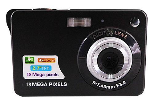 18MP digital camera with 2.7'' tft display 4 x digital zoom lithium battery 3