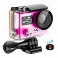 H8pro ambar 4k action camera waterproof
