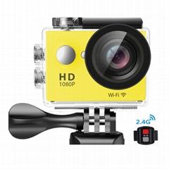 全高清1080p的防水数码摄像机拥有140度广视角