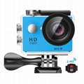 w9R 4k waterproof sports camera with remoter action camera
