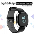 p2 waterproof smart watch with heart rate and blood pressure