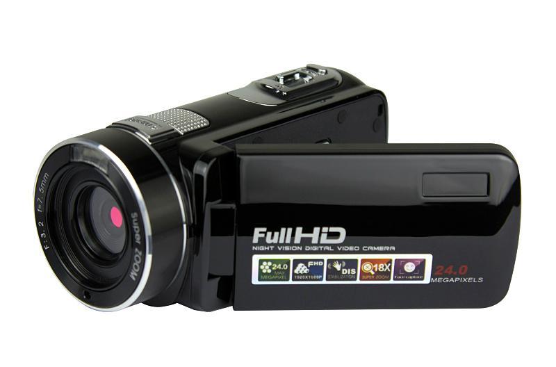 Full hd 1080p night vision digital video camera with remoter mini dv 3