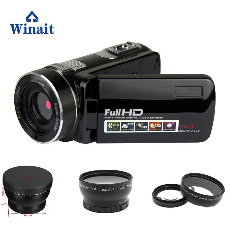 Full hd 1080p night vision digital video camera with remoter mini dv 2
