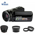 Full hd 1080p night vision digital video camera with remoter mini dv
