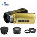 Full hd 1080p night vision digital video camera with remoter mini dv 1