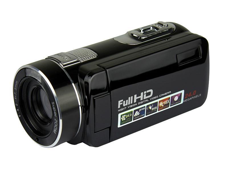 Full hd 1080p night vision digital video camera with remoter mini dv 6