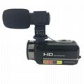 newest night vision digital video camera with micro phone hot shoe mini DV 1