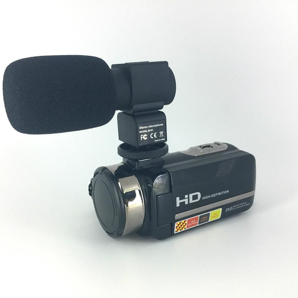 newest night vision digital video camera with micro phone hot shoe mini DV 3