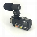 newest night vision digital video camera with micro phone hot shoe mini DV 4