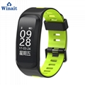 F4 ip68 waterproof heart rate smart bluetooth wrist band