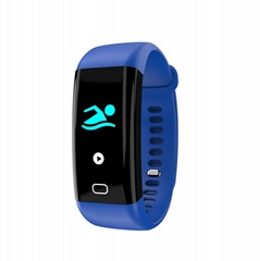 F07 color display ip68 waterproof digital bluetooth band with heart rate