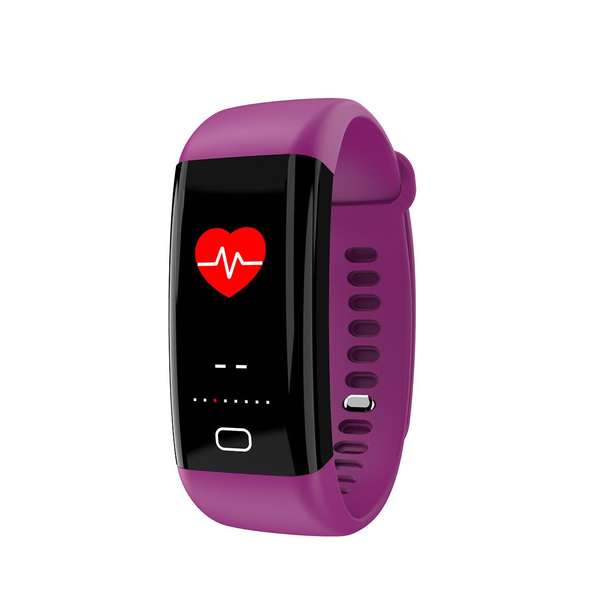 F07 color display ip68 waterproof digital bluetooth band with heart rate 5