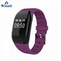 608HR ip68 waterproof smart bracelet heart rate band 4
