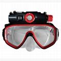 RD34 hd 720p digital diving mask video camera , dvr mini video camera 1