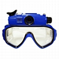 RD34 hd 720p digital diving mask video camera , dvr mini video camera
