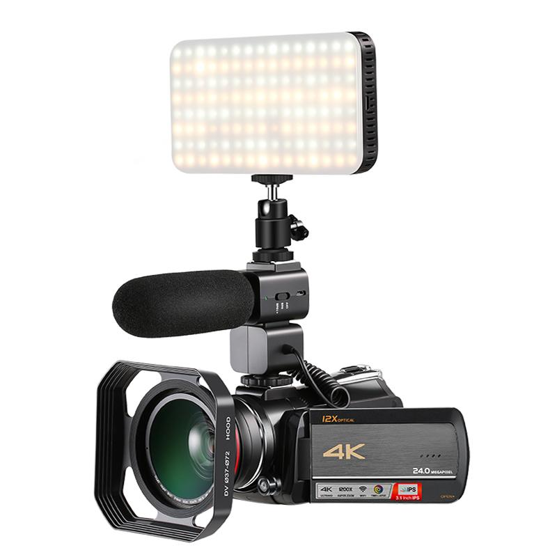 NEW UHD 4K Digital video camera with 12x optical zoom digital video camcorder 3
