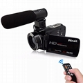 24MP WIFI digital video camcorder with 3.0'' touch display and 16x digital zoom
