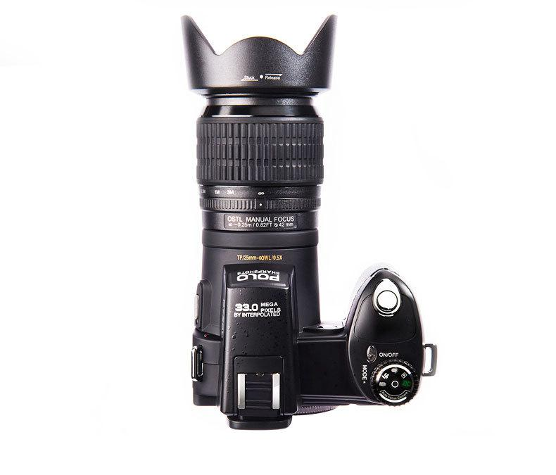 33MP DSLR digital video camera with 3.0'' TFT display