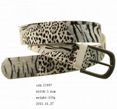 PU leopard belt